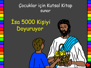 Jesus Feeds 5000 People Turkish PDA