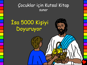 Jesus Feeds 5000 People Turkish