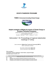 Adaptive strategies to Mitigate the Impacts of Climate