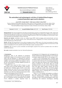 The antioxidant and antimutagenic activities of Ankaferd blood