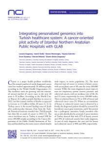 Integrating personalized genomics into Turkish
