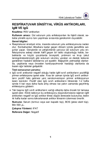 RESPİRATUVAR SİNSİTYAL VİRÜS ANTİKORLARI, IgM VE IgG
