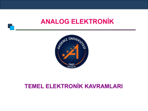 ANALOG ELEKTRONİK