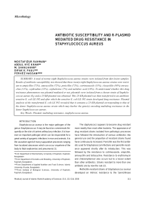 antibiotic susceptibility and r-plasmid mediated drug