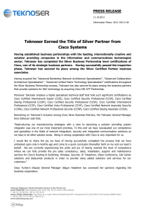 Teknoser Earned the Title of Silver Partner from Cisco Systems