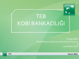 Single line title - teb kobi akademi