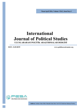 International Journal of Political Studies