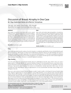 Discussion of Breast Atrophy in One Case