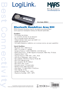 Bluetooth Handsfree Araç Kiti
