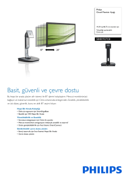 SB4B1927CB/00 Philips Cloud Monitör Ayağı