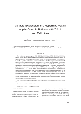 Variable Expression and Hypermethylation of