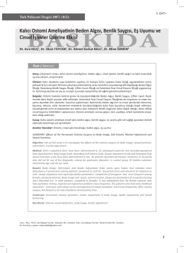 kalc osto.indd - Turkish Journal of Psychiatry