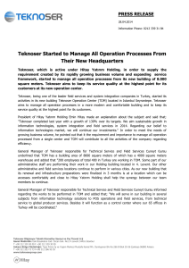 Teknoser Started to Manage All Operation Processes From Their