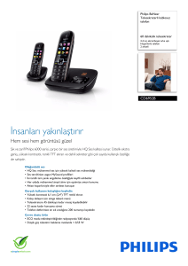 CD6952B/38 Philips Telesekreterli kablosuz telefon