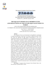 the equality bodies in eu member states and reflections on the future