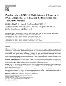 Possible Role of GADD45γ Methylation in Diffuse