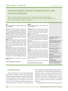 Comorbid Bipolar Disorder Among Patients with Conversion Disorder