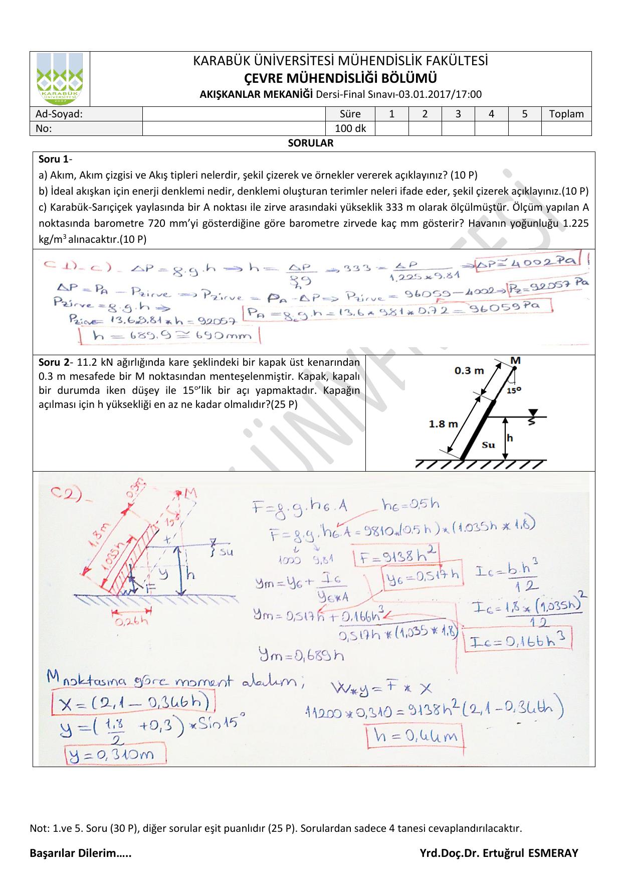 karabük üniversitesi mühendislik fakültesi çevre mühendisliği bölümü