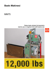 Baskı Makinesi MM75