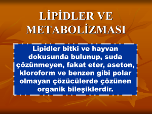 lipidler ve metabolizması