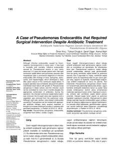 A Case of Pseudomonas Endocarditis that Required Surgical