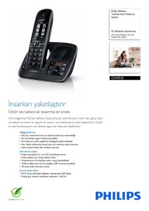 CD4951B/38 Philips Telesekreterli kablosuz telefon