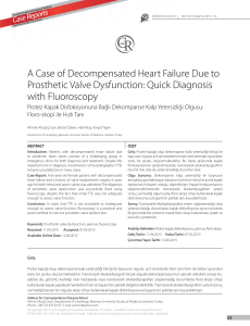 A Case of Decompensated Heart Failure Due to Prosthetic Valve