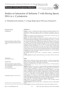 Studies on Interaction of Safranine T with Herring Sperm DNA in γ