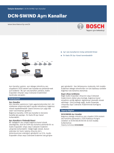 DCN‑SWIND Ayrı Kanallar - Bosch Security Systems
