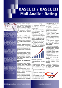 BASEL II / BASEL III Mali Analiz - Rating