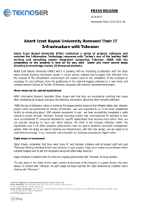 Abant Izzet Baysal University Renewed Their IT
