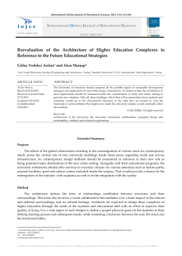 Reevaluation of the Architecture of Higher Education Complexes in