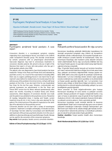Psychogenic Peripheral Facial Paralysis: A Case Report