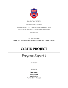 CaRFID PROJECT Progress Report 4