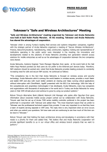"""Safe and Wireless Architectures"" Meeting"