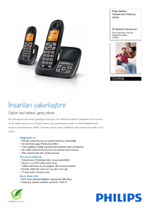 CD2952B/38 Philips Telesekreterli kablosuz telefon