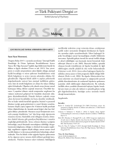 baskıda - Turkish Journal of Psychiatry