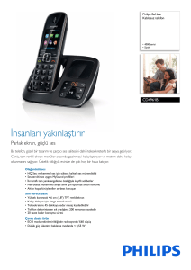 CD4961B/38 Philips Kablosuz telefon
