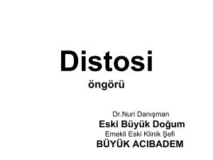 Distosi öngörü