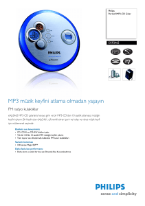 EXP2465/00 Philips Portatif MP3